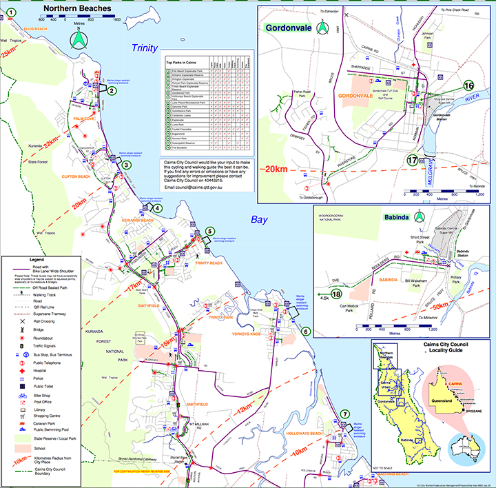 Maps - All Cairns Tours